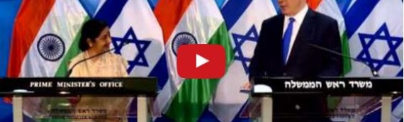Benjamin Netanyahu Meets With Indian Foreign Minister Sushma Swaraj in Israel