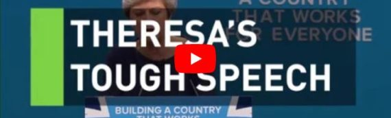 British PM Disastrous Speech: Heckled, Coughing, and Falling Scenery