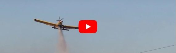 Airplanes Fight Brush Fires in Petach Tikvah