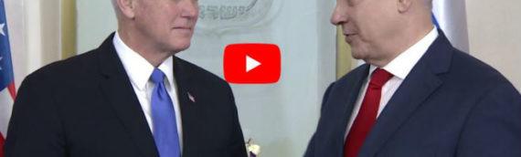 Pence Meeting With Netanyahu in Jerusalem