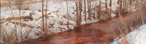 Russian Media Reports 'Biblical Bombshell' as Siberian River Turns to Crimson