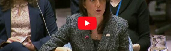 'Assad's Bombing Must Stop,' says Ambassador Haley