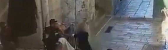 Arab Neutralized After Stabbing Jerusalem Cop at Temple Mount [WATCH]
