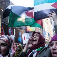 Anti-Israel demonstrators