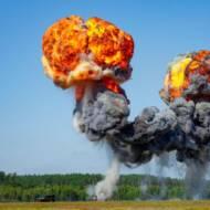 Illustrative - explosion in open field- Shutterstock