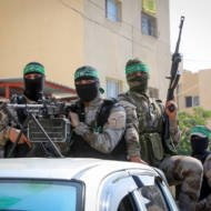 Hamas terrorists in the Gaza Strip