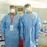 Israeli coronavirus-research team in India.