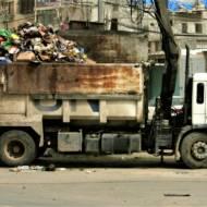 UN garbage truck