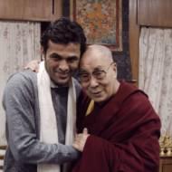 Rami Aman with the Dalai Lama during a visit to Tibet,