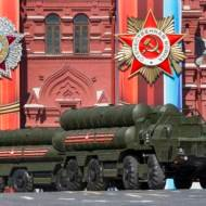 The S-400 anti-aircraft missile system in Red Square