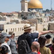 tourists jerusalem