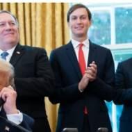 Donald Trump, Jared Kushner, Robert O'brien, Mike Pompeo