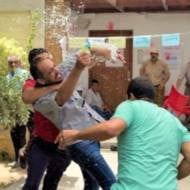 Palestinians brawl